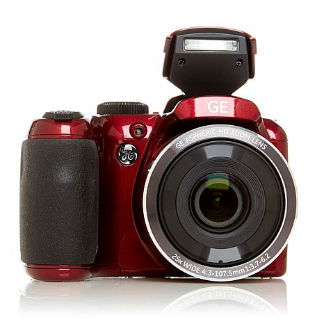 General Imaging X450 Digital Camera with 2.7-Inch LCD GE PowerPro 16MP 25X Optical Zoom HD Video SLR-Style Camera (COLOR- WHITE / BLACK / RED / PURPLE /BLUE / GOLD) (RED)