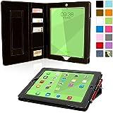 Snugg iPad 3 & 4 Case - Executive Smart Cover With Card Slots & Lifetime Guarantee (Black Leather) for Apple iPad 3 & 4