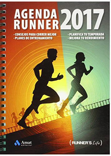 Amat Editorial MT1516 - Agenda, 144 páginas (Runner's Life)