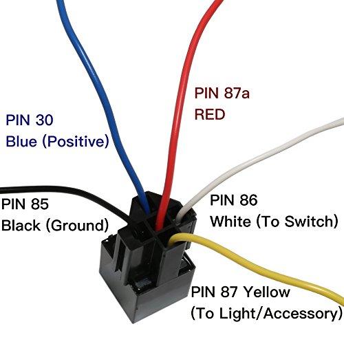5 Pack  40 Amp Relay Harness Spdt 12v Bosch