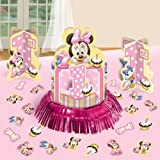 Disney Baby Minnie Mouse 1st Birthday Party Table Centerpiece Decoration Kit