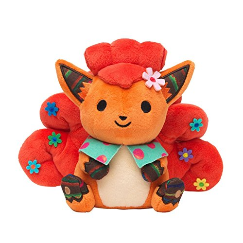 Chiku-Chiku Sewing Campaign Vulpix Pokemon Six Tails Fox Plush Toy Soft Anime With a Free Badge as Gift 7""