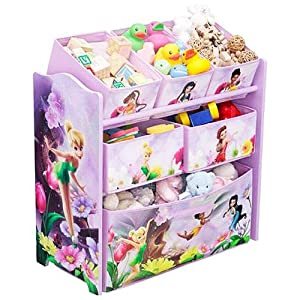 Disney Fairies Tinkerbell Multi Bin Toy Box Organizer