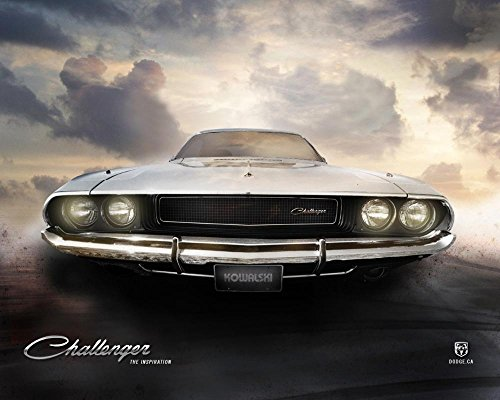 Within Home Core Dodge Challenger 1970 Fabric Canvas Poster Print (Dodge Challenger Poster compare prices)