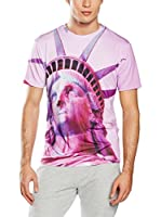 Mr. Gugu & Miss Go Camiseta Manga Corta Unisex Pink Liberty (Fucsia)