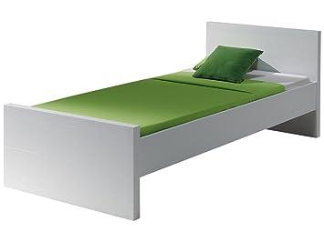 'Autobett labe9014Lara Bett MDF weiß lackiert 210x 96x 76,5cm