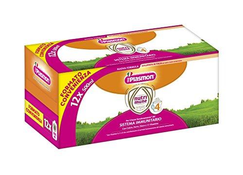 Plasmon Latte Liquido Nutri Mune 4 - 12 confezioni da 500 ml - Totale: 6 l