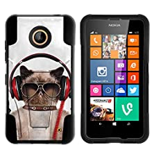 buy Nokia Lumia 635 Case, Fusion Strike Hybrid Dual Layer Case With Kickstand Cute Animal Collection,By Miniturtle® - Cool Cat In Headphones