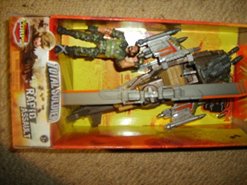 "The Corps Total Soldier New Rapid Assault Vehicles, Combat Copter with 3"" Poseable Terra Team Figure"