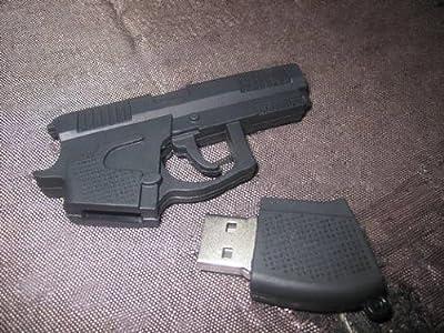 usb key 8 GB fun flash memory stick - gun shape black (Import from Hong Kong) from funkymemories