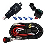 Mictuning LED Light Bar Wiring Harness 30 Amp Fuse ON-OFF Waterproof Switch(2 Lead 12ft)
