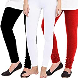 Ace Women Leggings(combo of Black,White and Red)