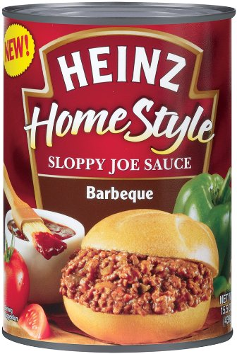 Heinz Home Style Sloppy Joe Sauce Barbeque 15 5 Ounce Cans Pack of 12
