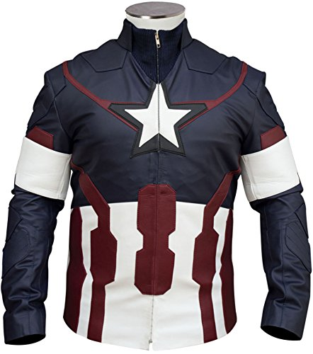 Avengers Chris Evans Age of Ultron Blue Jacket