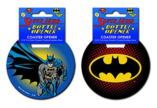 Batman Iconic Stainless Steel Super Hero Coaster Bottle Opener (Bottle Opener Batman Keychain compare prices)