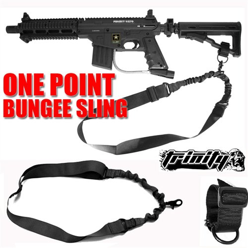 Trinity Supply Sling, Tactical Bungee ONE Point Sling with Stock Adapter for Rifles, Shotguns, Air Rifles, Airguns, Paintball and Airsoft Guns, Tippmann Paintball Guns Sling, Bt Paintball Guns Sling, Dye Dam, Smart Parts Sop1, Gog G1, Spyder Paintball Guns Sling, Umarex Guns Sling, G&g Airsoft Guns Sling, Crosman, Cyma, Double Eagle, G&g, Ics, Jing Gong, P-force, Tsd, Uk Arms, Firepower, Umarex, Well, World Tech, A&k, Aftermath, Agm, Asg, Bravo, Classic Army, Csi, Cybergun, D-boys, Echo1, Elite Force, Fidragon, G&p, H&k, Hfc, Hwasan, Intellect, Javelin, Jbu, King Arms, Kjw, Kwa, Magbull, Midland, Modify, Src, Swiss Arms, Tactical Crusaders, Tactical Force Airsoft, Taurus, Tenergy, Tokyo Marui, Uhc, V-force, We-tech, Wingun, Zombie Industries Airsoft, Fast Shipping