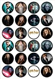 Harry Potter Edible PREMIUM THICKNESS SWEETENED VANILLA,Wafer Rice Paper Cupcake Toppers/Decorations