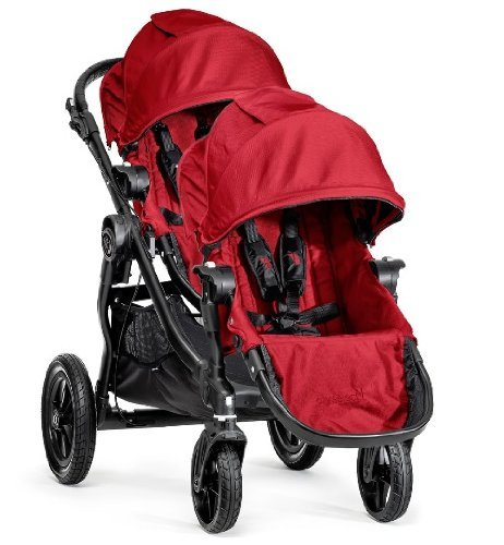 Baby Jogger 2014 City Select Stroller Black Frame WITH Second Seat (Red) - 1