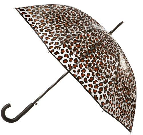 Totes Women's Animal Print Bubble Umbrella, Leopard Print