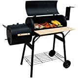 TecTake BBQ Charcoal Barbecue Smoker with heat indicator