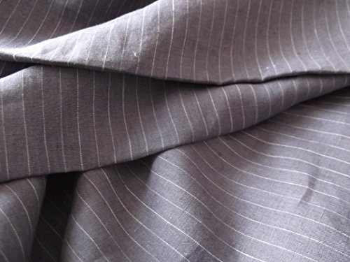 Yarn Dyed Striped Pure Linen Fabric for Men