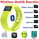 Evana (get Free TTL/Trusttel Branded Mobile Pouch) TW64 OLED Display Bluetooth 4.0 Waterproof Smart Bracelet Watch... - B01E09RC0W