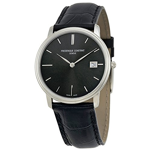 Frederique Constant Slim Line Black Sunray Mens Watch FC-220NG4S6 image