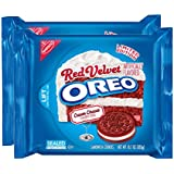 Nabisco, Oreo, Limited Edition, Red Velvet Sandwich Cookies with Cream Cheese Flavored Creme, 10.7oz Bag (Pack of 2)
