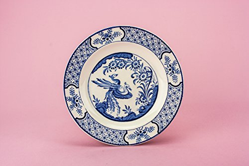 6 Spectacular Blue And White Yuan Wood Sons Pottery PLATES Dish Victorian Antique Kitchen Sandwich Food 1910s English LS