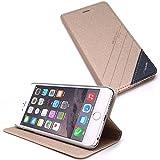 スタンド機能付き ダイアリーケース Ts-case for iPhone 6 Plus (ベージュ)