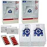 Miele GN Vacuum Hoover Bags - S2111 S8330 S8340 Cat & Dog Genuine Original Hyclean + Filters (2 Boxes, + 10 Air Fresheners)