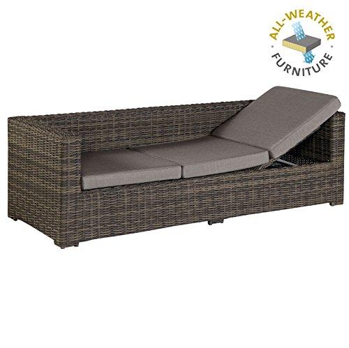 exotan rimini lounge sofa bank 3 sitzer mit liegefunktion dunkelgrau braun all weather. Black Bedroom Furniture Sets. Home Design Ideas