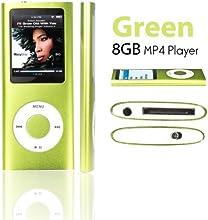 eLifeStore Lecteur MP3/MP4 8 Go avec radio FM, jeux, enregistreur & lecteur vidéo Plusieurs coloris disponibles vert