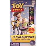 Toy Story 16 Valentines With 16 Toy Story Pencils