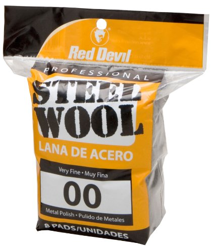 Red Devil 0322 Steel Wool, 00 Very Fine,  8 Pads (Steel Wool Sponge compare prices)