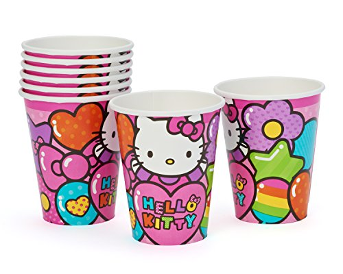 American Greetings Hello Kitty 9-oz. Paper Cups, 8 Count, Party Supplies Novelty, Multicolor