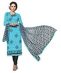 Women Icon Presents Sky Blue Embroidered Un-Stitched Dress Material WICKFVSIDC781009