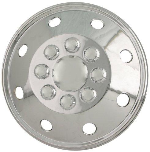 16 8 Lug Rv Dual Chrome Wheel Simulators Skins Rim Covers Hub Caps Steel Wheels SET of 4 16 Chrome Wheel Covers for 8 lug Steel Wheels