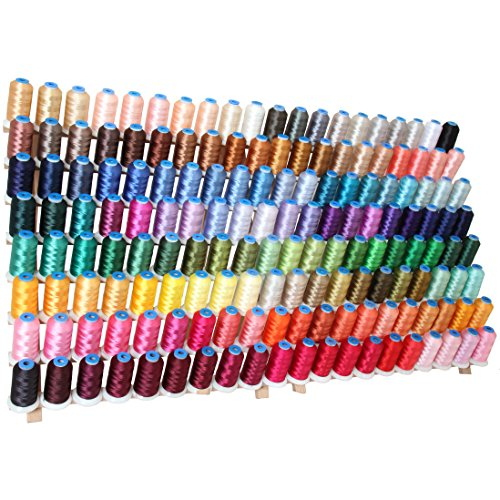 Machine Embroidery Thread Set - 160 LARGE Polyester Spools - 1000M - 40 wt. (Machine Embroidery Thread 1000m compare prices)
