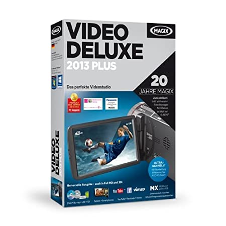 MAGIX Video deluxe 2013 Plus (Jubiläumsaktion inkl. Foto Manager MX Deluxe)