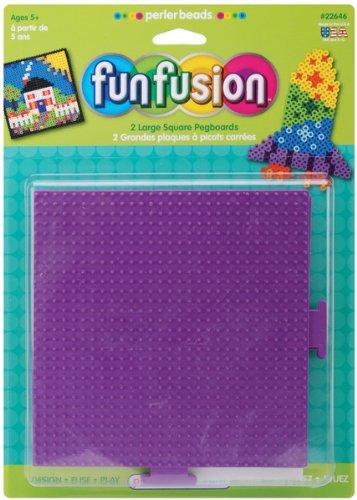 "Perler Fun Fusion Bead Pegboards 5.5""X5.5"" 2/Pkg-S - 656326 - 1"
