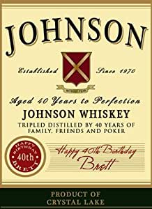Personalized Whiskey Label