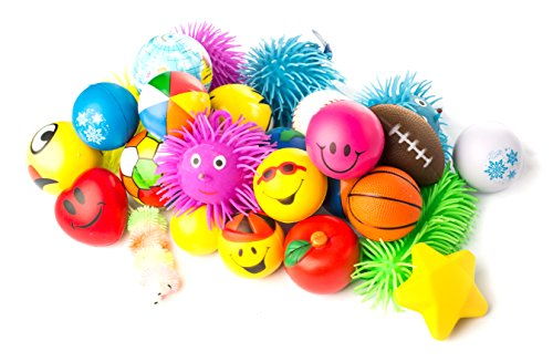 Stress Ball – Puffer – Stress Relief Toys Value Assortment Bulk 1 Dozen Stress Relax Toy Balls, Squeeze Ball Puffer Ball Assortment! Great Most Popular Selection of Hand Exercise Balls & Therapy Balls