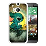 Custom Design Disney Lilo And Stitch White HTC ONE M8 cell phone case
