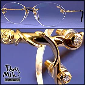 Neostyle 18K Gold & Diamond Prescription Eyewear - Mozart