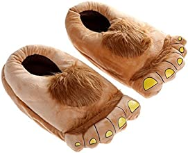 eSmart Big Foot Cartoon Slippers Savage Furry Monster Hobbit Feet Plush Home Slippers Comfortable No