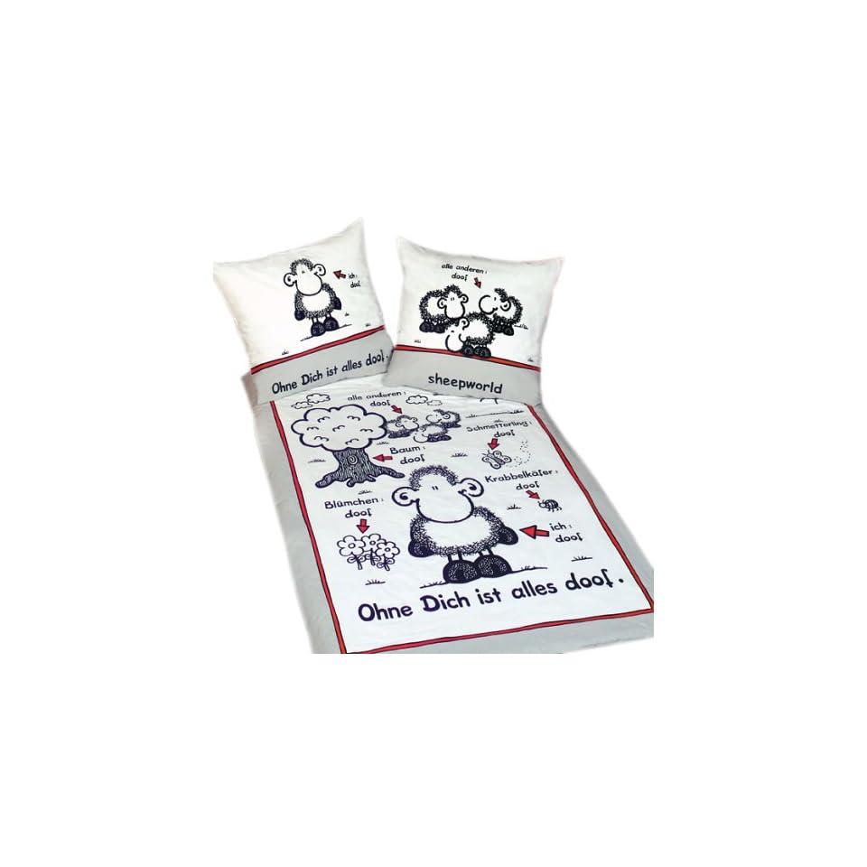 Herding 447318039 Bettwäsche Sheepworld 80x80 155x220 Cm Linon