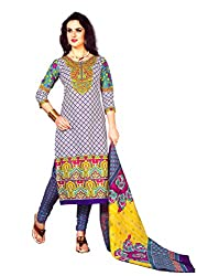 New Summer Collection Women's Cotton Unstitched Dress material (FE0005_Multi-coloured)