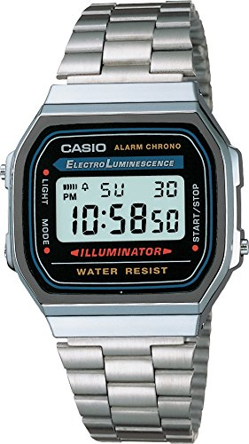 Casio Men's A168W-1 Stainless Steel Watch 0