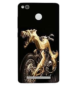 ColourCraft Amazing Bike Design Back Case Cover for XIAOMI REDMI 3X